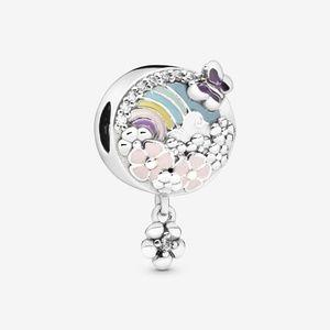 Authentic Pandora Flower Color Story Dangle Charm